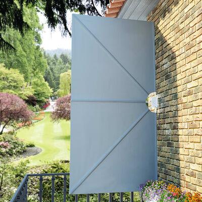 vidaXL Faltbarer Terrassen-Seitenfächer Grau 300×150 cm