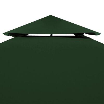 vidaXL Pavillon-Dachplane Ersatzdach 310 g/m² Grün 3×4 m