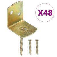 vidaXL Flechtzaunhalter 48 Stk. L-Form Verzinktes Metall