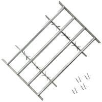vidaXL Fenstergitter Verstellbar mit 4 Querstäben 700-1050 mm