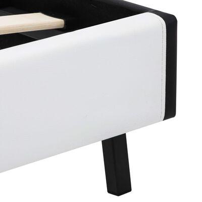 vidaXL Bettgestell mit LED Weiß Kunstleder 120 x 200 cm