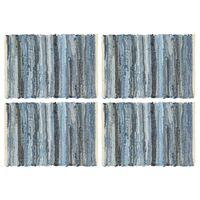 vidaXL Tischsets 4 Stk. Chindi Denim Blau 30 x 45 cm Baumwolle