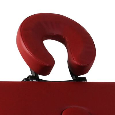 Massagetisch mit Aluminiumrahmen, faltbar 3 Zonen Rot