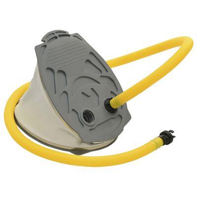 vidaXL Fußpumpe 21x29,5 cm PP und PE Grau und Gelb