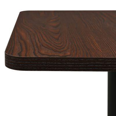 vidaXL Bistrotisch Dunkle Esche 60x60x107 cm