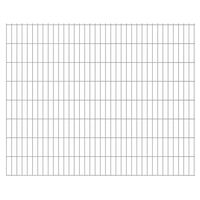 vidaXL 2D Gartenzaun-Elemente 2,008x1,63 m Gesamtlänge 12 m Silbern