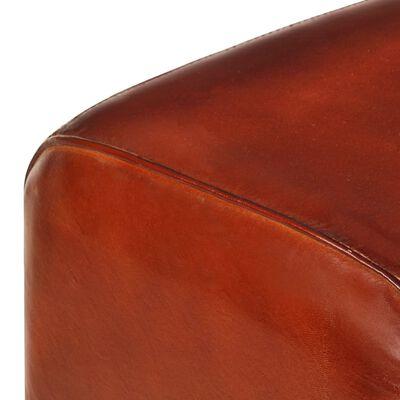 vidaXL Sitzbank Turnbock-Design 160cm Braun Echtleder Mango Massivholz