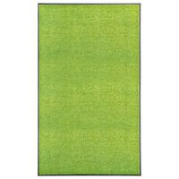 vidaXL Fußmatte Waschbar Grün 90x150 cm