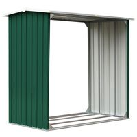 vidaXL Brennholzlager Verzinkter Stahl 172x91x154 cm Grün