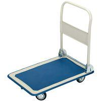 Draper Tools Transportwagen mit Klappbügel 63x48x85 cm Blau und Weiß