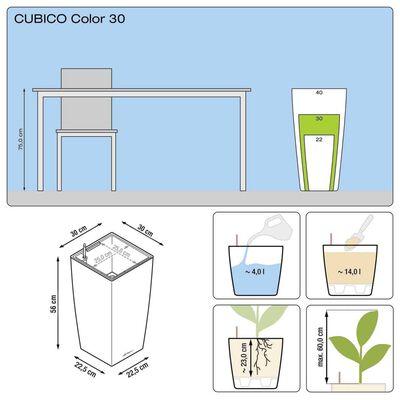 LECHUZA Blumentopf Cubico Color 30 Komplett-Set Schiefergrau 13138