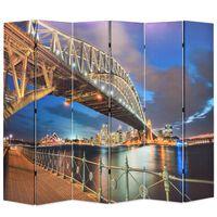 vidaXL Raumteiler klappbar 228 x 170 cm Sydney Harbour Bridge