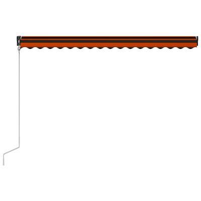 vidaXL Automatisch Einziehbare Markise 450×300 cm Orange und Braun