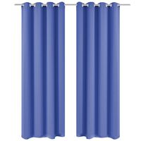vidaXL Verdunkelungsvorhänge 2 Stk. mit Metallösen 135 x 245 cm Blau