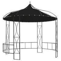 vidaXL Pavillon 300 x 290 cm Anthrazit Rund