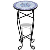MOSAIK Beistelltisch Tisch Bistrotisch Blumenständer Blau