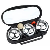 Get & Go Spiel Boule-Set III 3 Kugeln Silber