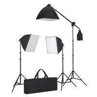 vidaXL Studiobeleuchtung-Set 3 Fotolampen mit Stativ & Softbox