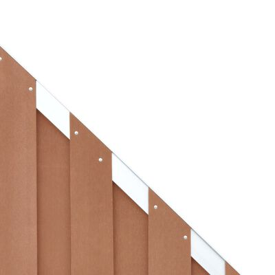 vidaXL Zaunelement WPC 90 x 180 cm Braun