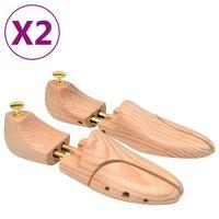 vidaXL Schuhspanner 2 Paar Größe 44-45 Kiefer Massivholz