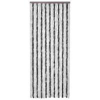 vidaXL Insektenschutz-Vorhang Grau und Weiß 90x200 cm Chenille