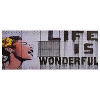 vidaXL Leinwandbild-Set Wonderful Mehrfarbig 150×60 cm