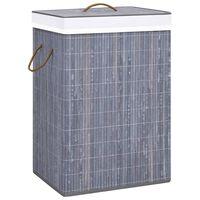 vidaXL Bambus-Wäschekorb Grau