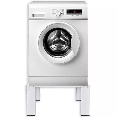 vidaXL Waschmaschinensockel Weiß