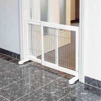 TRIXIE Hunde-Absperrgitter Holz 65-108x61 cm