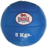LONSDALE Medizinball 5 kg Leder Blau