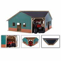 Kids Globe Eckscheune für Landmaschinen 1:16 Holz 610339