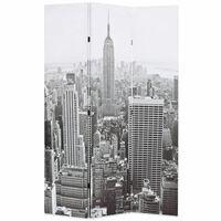 vidaXL Raumteiler klappbar 120 x 170 cm New York bei Tag Schwarz-Weiß