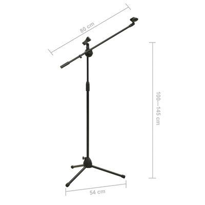 vidaXL Stativ-Mikrofonständer mit Dual Clip-Halterung