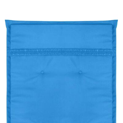 vidaXL Gartenstuhlauflagen 2 Stk. Blau 120x50x4 cm