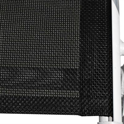 vidaXL 11-tlg. Garten-Essgruppe Stahl und Textilene Schwarz