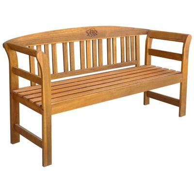 vidaXL Gartenbank mit Auflage 157 cm Massivholz Akazie