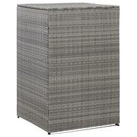 vidaXL Mülltonnenbox für 1 Tonne Anthrazit 76x78x120 cm Poly Rattan