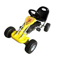 vidaXL Pedal-Gokart Gelb