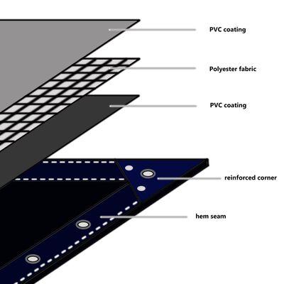 vidaXL Abdeckplane 650 g/m² 4x7 m Grau