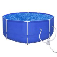 Swimming Pool Round 367 cm with Filter Pump 300 gal / h (90528+90560)