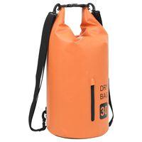 vidaXL Trockensack mit Reißverschluss Orange 30 L PVC