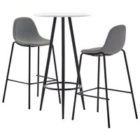 vidaXL 3-tlg. Bar-Set Stoff Taupe