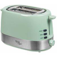Bestron Toaster mit Brötchenwärmer ATS1000M 850 W Minzgrün