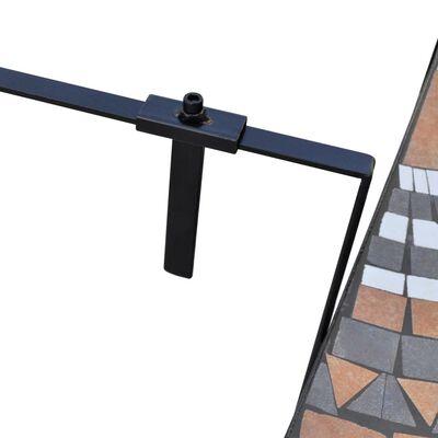 vidaXL Balkonhängetisch Terracotta und Weiß Mosaik