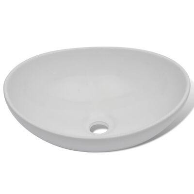 vidaXL 2-tlg. Badmöbel-Set Keramik Grau