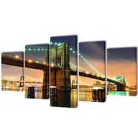 Bilder Dekoration Set Brooklyn Bridge 200 x 100 cm