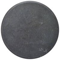 vidaXL Tischplatte Schwarz Ø70x2,5 cm Marmor