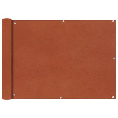vidaXL Balkonsichtschutz Oxfordgewebe 75x600 cm Terracotta