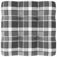 vidaXL Palettensofa-Kissen Grau Karomuster 60x60x12 cm