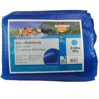 Summer Fun Sommer Poolabdeckung Solar Rund 350 cm PE Blau